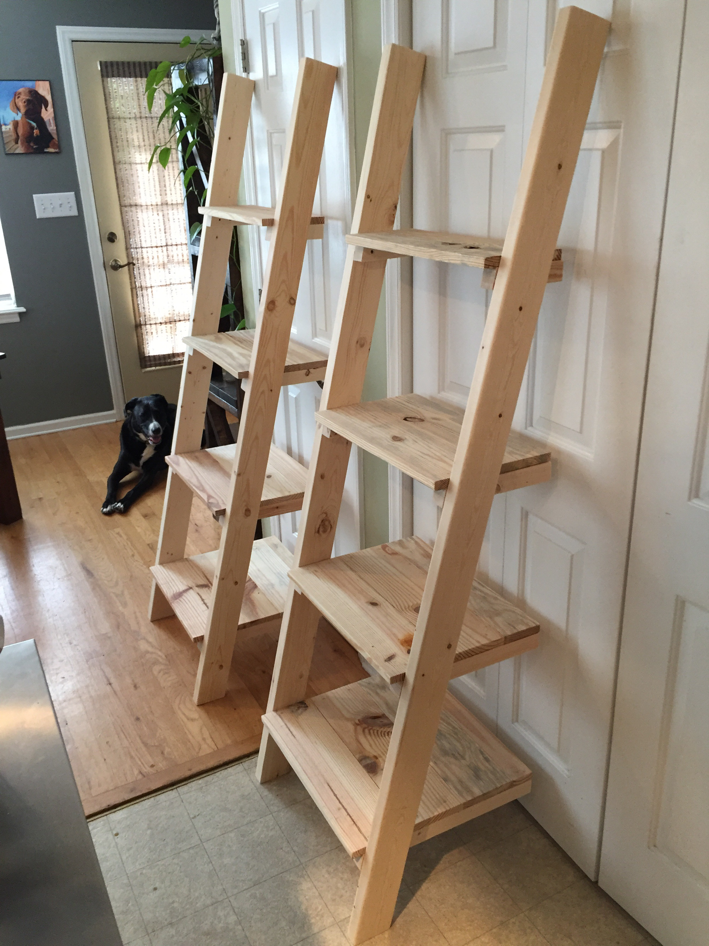 leaning bookcase drawers black shelf astonishing diy appealing with ladder